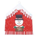 Christmas Chair Cover Dining Table Chairs Back Covers Xmas Decor (Snowman)