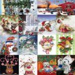 5D DIY Full Drill Diamond Painting Christmas Cross Stitch Craft Kit (W1383)