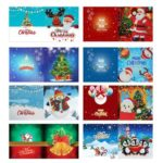 8pcs DIY Special Shaped Diamond Painting Embroidery Christmas Card Gift