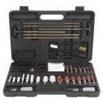 158pcs Universal Outdoor Barrel Cleaning Kit Black with ABS Aluminum Case