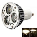 GU10 3W 3 LED Light Bulb 5500~6000K Pure White Energy-Save Home Office Lamp