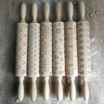 Christmas Gift Pattern Laser Embossing Rolling Pin Dough Stick Baking Tool