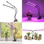 30W Grow Light for Indoor Plants 3 Heads Divided Adjustable Goose Neck Desk