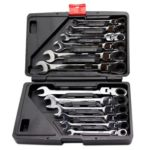 12pcs 72 Teeth Movable Head Ratchet Wrench Spanner Car Repair Hand Tool