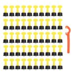 50pcs T-type Tile Leveling Locator Wedges Tile Spacers for Flooring (1.6mm)