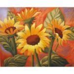 5D DIY Full Drill Diamond Painting Sunflower Cross Stitch Craft Kit (W1500)