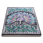 DIY Peafowl Special Shaped Diamond Painting 50 Pages A5 Notebook Sketchbook