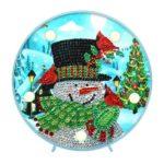 DIY Special Shape Diamond Painting Xmas Snowman Light Embroidery Home Decor