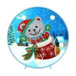 DIY Special Shaped Diamond Painting Xmas Bear Light Embroidery Home Decor