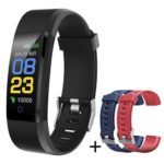 115PLUS Smart Bracelet Heart Rate Monitor Fitness Tracker Wristband (Black)