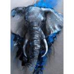5D DIY Full Drill Diamond Painting Elephant Cross Stitch Mosaic Kit (w1468)