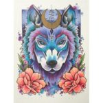 5D DIY Full Drill Diamond Painting Wolf Cross Stitch Mosaic Kits (w1465)
