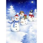5D DIY Full Drill Diamond Painting Snowman Cross Stitch Mosaic Kits (W1689)