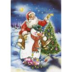 5D DIY Full Drill Diamond Painting Santa Claus Cross Stitch Kits (W1687)