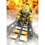 5D DIY Full Drill Diamond Painting Fire Fighter Embroidery Mosaic Craft Kit