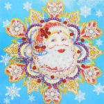 5D DIY Special Shaped Diamond Painting Santa Claus Cross Stitch Kit Decor
