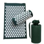 3pcs/set Lotus Acupuncture Massage Pillow Relaxation Yoga Pad (Dark Green)