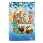 DIY Santa Claus Special Shaped Diamond Painting 50 Page A5 Notebook Notepad