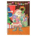 DIY Santa Claus Special Shaped Diamond Painting 50 Pages A5 Notebook Gift