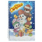 DIY Christmas Snowman Special Shaped Diamond Painting 50 Pages A5 Notebook