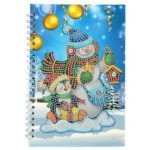 DIY Christmas Snowman Special Shaped Diamond Painting 50 Pages A5 Notepad