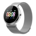 V06C Women Smart Bracelet Watch IP67 Heart Rate Monitor (Milan Band Sliver)