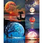 5D DIY Full Drill Diamond Painting Moon Embroidery Mosaic Craft Kit (z1565)