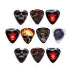 10pcs Electric Guitar Celluloid Picks Skull 0.8mm Ukulele Guitar Plectrum