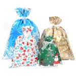 10pcs Merry Christmas Gift Bag Candy Presents Packing Bags Xmas Decor (L)