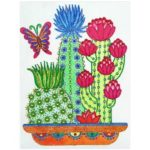 5D DIY Special Shaped Diamond Painting Cactus Cross Stitch Mosaic Craft Kit