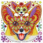 5D DIY Special Shaped Diamond Painting Dog Cross Stitch Mosaic Craft Kits