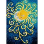 5D DIY Full Drill Diamond Painting Sun and Moon Embroidery Mosaic Craft Kit