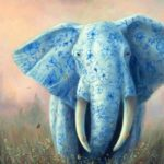 5D DIY Full Drill Diamond Painting Elephant Cross Stitch Mosaic Craft Kits