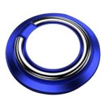 Smart Phone Finger Ring Holder 360 Degree Car Magnetic Mount Stand (Blue)