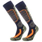 Winter Warm Mountaineering Skiing Socks Outdoor Thicken Long Socks (Blue)