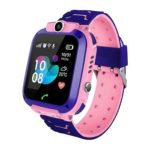 Q12 1.44 inch Touch Screen LBS Positioning IP67 Children Smart Watch (Pink)