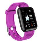 116 Plus 1.3 inch Screen Smart Bracelet Fitness Tracker Wristband (Purple)
