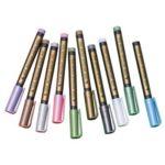 10pcs Color Metal Pen Paint Highlight Marker Pen for DIY Photo Album Gift