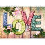 5D DIY Full Drill Diamond Painting LOVE Embroidery Mosaic Kits Home Decor