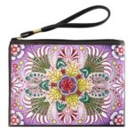 DIY Colorful Special Shaped Diamond Painting Wristlet Clutch Zipper Wallet
