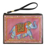 DIY Elephant Special Shaped Diamond Painting Wristlet Wallet Zipper Clutch