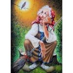 5D DIY Full Drill Diamond Painting Old Lady Embroidery Mosaic Craft Kits