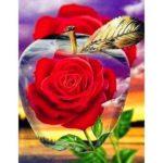 5D DIY Full Drill Diamond Painting Rose Embroidery Mosaic Craft Kits Decor