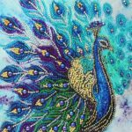 5D DIY Special Shaped Diamond Painting Peafowl Embroidery Mosaic Kit Decor