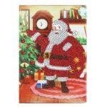 DIY Santa Claus Special Shaped Diamond Painting 50 Pages A5 Sketchbook Gift