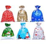 15pcs Merry Christmas Gift Bag Candy Presents Packing Bags Xmas Decoration