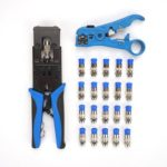 Crimper Line Network Crimping Pliers Wire Stripper Electrician Hand Tool