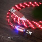 Colorful LED Magnetic Absorption Data Line Charging Cable for Android Phone