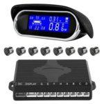 8 Sensors Car Parking Sensor Kit Auto Backup Reverse Radar Monitor System