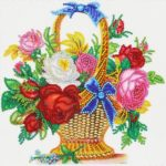 5D DIY Special Shaped Diamond Painting Flower Basket Cross Stitch Craft Kit